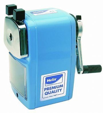 HELIX DESKTOP ROTARY PENCIL SHARPENER METAL BODY HEAVY DUTY with DESK CLAMP